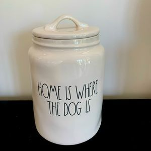 Treat canister HOME IS WHERE THE DOG IS🐶ceramic